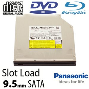 Panasonic 4X Blu-ray Burner + Super-MultiDrive DVD/DVD DL/CDRW Read/Write - SuperSlim SATA internal