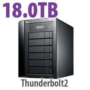 PROMISE Technology 18.0TB Pegasus2 R6 RAID Thunderbolt 20Gb/s Storage Solution.