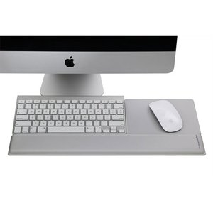 Rain Design mRest aluminum - A matching aluminum colored wrist rest and mouse pad for your Mac.
