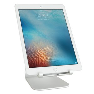 "Rain Design mStand tablet plus Adjustable Stand for All Apple iPad Models and Tablets up to 13"" - Silver"