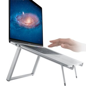 mBar Pro+ Foldable Laptop Stand - Silver. mBar Pro+ raises and tilts your Macbook even further than the mBar Pro for better posture and viewing, and is foldable for easy portability.