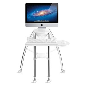 "Rain Design iGo stand for your flat panel iMac 24"" or Thunderbolt Display 24"" - Sitting model"