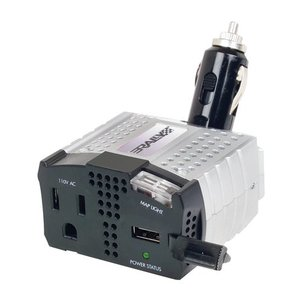 Rally 100W(200W Peak) Car/Mobile 12V to 110/120V AC Inverter w/USB. Plug in laptop, AC chargers, etc