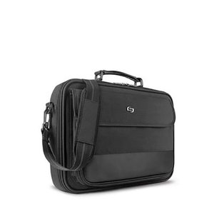 Solo Rockefeller 15.6-Inch Slim Laptop Briefcase - Black