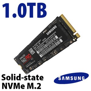 Samsung 1.0TB 960 PRO NVMe M.2 Solid-state Drive