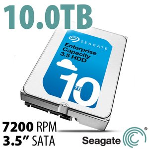 (*) 10.0TB Seagate Enterprise Capacity 3.5-inch Enterprise Class Hard Drive