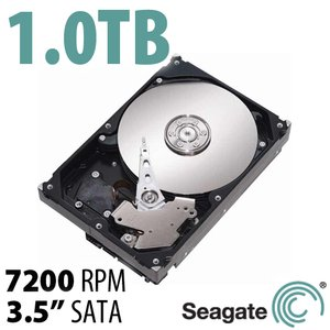 1.0TB Seagate BarraCuda 3.5-inch SATA 6.0Gb/s 7200RPM Hard Drive with 64MB Cache