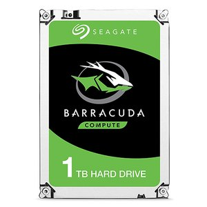 (*) 1.0TB Seagate BarraCuda 2.5-inch 7mm SATA 6.0Gb/s with 128MB cache