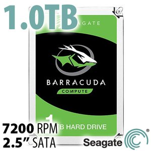 1.0TB 7200RPM Seagate 2.5-inch BarraCuda High-Performance SATA HDD with 128MB cache