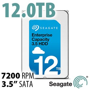Seagate 12.0TB Enterprise Capacity 3.5-inch HDD (Helium)