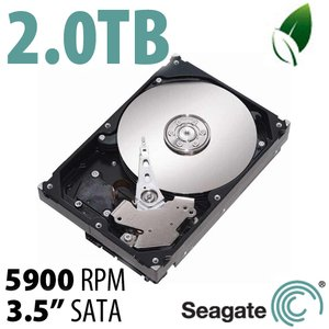 (*) 2.0TB Seagate Barracuda Green 3.5-inch SATA 6.0Gb/s 5900RPM Hard Drive *Used*