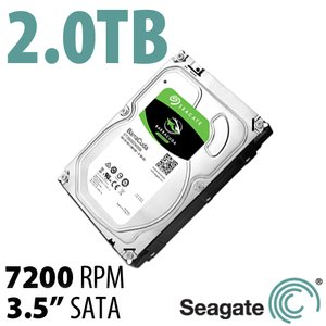 2.0TB Seagate BarraCuda 3.5-inch SATA 6.0Gb/s 7200RPM Hard Drive