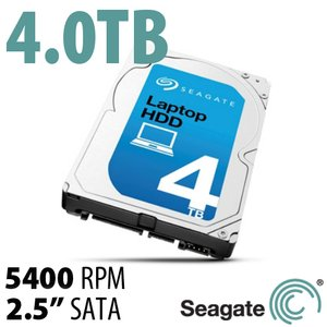 (*) 4.0TB Seagate Laptop 2.5-inch 15mm SATA 6.0 Gb/s Hard Drive