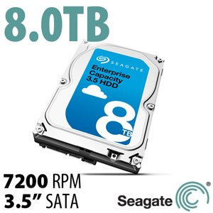 (*) 8.0TB Seagate Enterprise Capacity 3.5-inch Enterprise Class Hard Drive