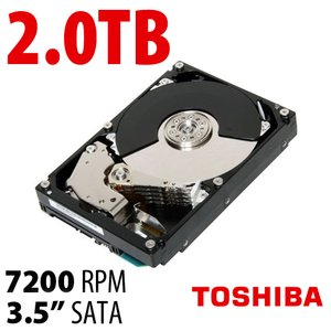 2.0TB Toshiba 7200RPM HDD with 64MB Cache