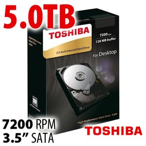 Toshiba 5.0TB X300 Internal 3.5-inch HDD 7200RPM 6Gb/s