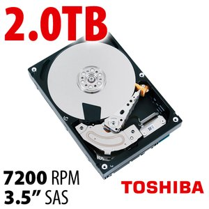 2.0TB Toshiba Enterprise Capacity MG04SCA Series SAS Interface Hard Disk Drive