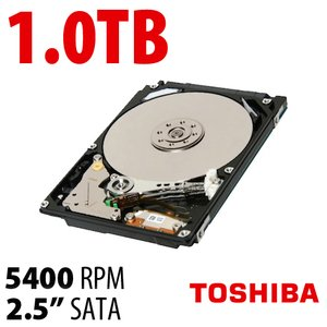 1.0TB Toshiba Aquarius 2.5-inch 9.5mm SATA 3.0Gb/s 5400RPM Hard Drive