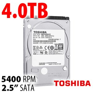 (*) 4.0TB Toshiba Laptop 2.5-inch 15mm SATA 6.0Gb/s Hard Drive