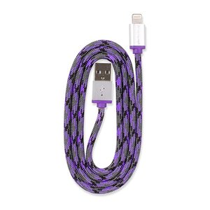 0.9M (3') 360 Electrical QuickLink Braided Lightning to USB Braided Charging Cable - Purple
