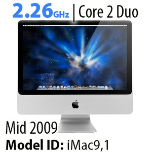 "Apple 20"" iMac (2009) 2.26GHz Core 2 Duo: 8GB RAM, 2.0TB HDD, SuperDrive, Used"