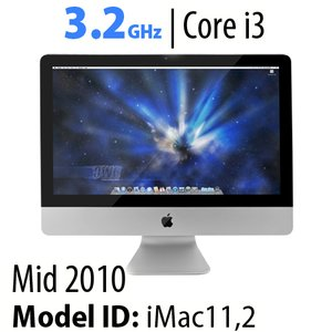 "Apple 21.5"" iMac (2010) 3.2GHz Core i3: 8GB RAM, 1.0TB HDD, SuperDrive, Used"