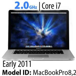"Apple 15"" MacBook Pro (2011) 2.0GHz Quad-Core i7: Thunderbolt, 16GB RAM, 500GB HDD, SuperDrive, Used"