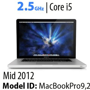 "Apple 13"" MacBook Pro (2012) 2.5GHz Core i5: Thunderbolt, 16GB RAM, 480GB SSD, SuperDrive, Used"