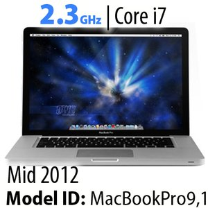 "Apple 15"" MacBook Pro (2012) 2.3GHz Quad-Core i7: Thunderbolt, 8GB RAM, 1.0TB HDD, SuperDrive, Used"
