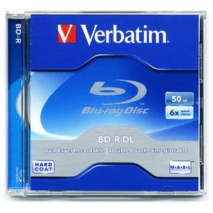 Verbatim 6x BD-R DL 50GB Blank Blu-ray Media - Single in Jewel Case.