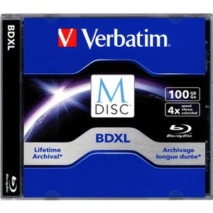 Verbatim 4X BD-XL 100GB Blank M-DISC Blu-ray Media - Single in Jewel Case