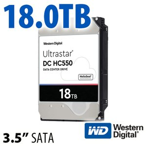 (*) 18TB ULTRASTAR DC HC550 3.5 inch Enterprise SATA 7200RPM