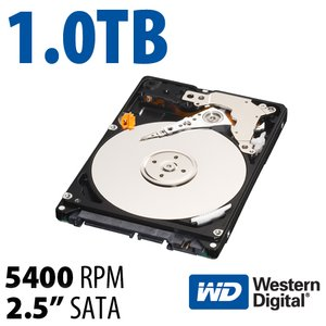 (*) 1.0TB WD Scorpio Blue 2.5-inch 9.5mm SATA 6.0Gb/s 5400RPM Hard Drive