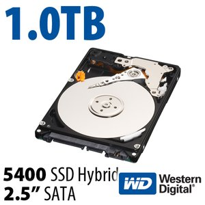 "1.0TB WD Black Hybrid SSD/HD 2.5"" Serial-ATA 6Gb/s 7mm HD/SSD Hybrid Drive"