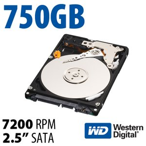 750GB WD Black 2.5-inch 9.5mm SATA 6.0Gb/s 7200RPM Hard Drive