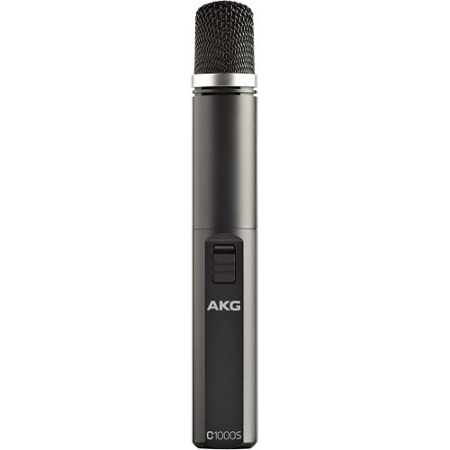 AKG_C_1000_S_DualPattern_Condenser_Microphone_Stand_clamp_windscreen_&_case_included
