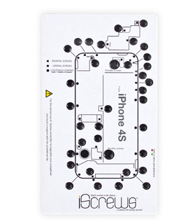 newertech iscrews repair screw organizer sheet for at macsales com rh eshop macsales com iPhone 4 Screw Placement Chart iphone 4s screw diagram pdf