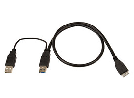 OWC Y-Cable USB 3.0 Micro-B to Dual Standard Male A