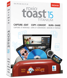 (*) Roxio Toast 15 Titanium - w/Blu-ray Video Disc Authoring Plug-in *Not  latest version*
